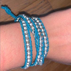 Jewelry - Blue and Silver Wrap Around Bracelet/Necklace